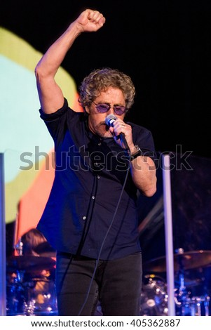 Glastonbury, Somerset, UK - June 28, 2015 - Roger Daltrey of The Who Headlining Glastonbury Festival's Pyramid Stage