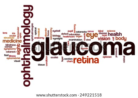 Glaucoma word cloud concept - stock photo
