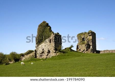 Gleaston Castle in Cumbria - stock photo