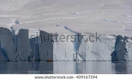 Gleciar in Antarctica - stock photo