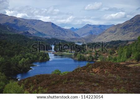 Glen Afric, Scottish Highlands, UK - stock photo