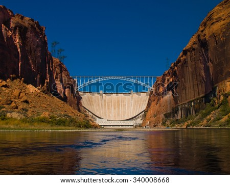 Glen canyon dam - stock photo