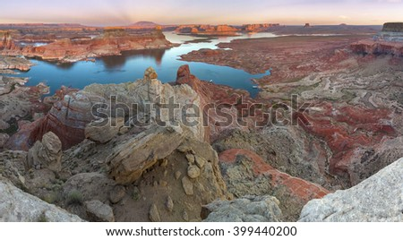 Glen Canyon National Recreation area, Alstrom point at sunset