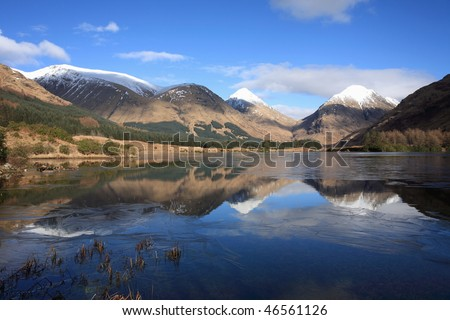 Glen Etive. - stock photo
