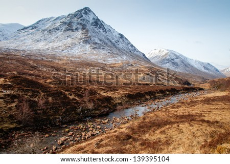 Glencoe Landscape - stock photo
