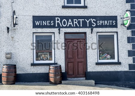 GLENCOLMCILLE, IRELAND - MARCH 18, 2016: Traditional irish spirits shop.