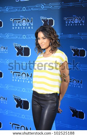 GLENDALE, CA - MAY 12: Emmanuelle Chriqui at the Disney XD's 'TRON: Uprising' Press Event And Reception at DisneyToon Studios on May 12, 2012 in Glendale, California