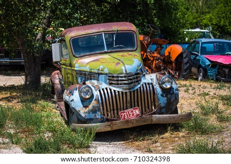 GLENDALE, UT: August 2016 - Old Chevrolet pickup truck in Glendale UT