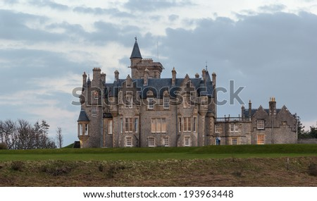 Glengorm Castle, also known as Castle Sorn, is a 19th-century country house on the Isle of Mull, Scotland. - stock photo