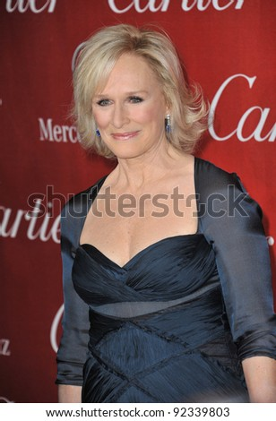 Glenn Close at the 2012 Palm Springs Film Festival Awards Gala at the Palm Springs Convention Centre. January 7, 2012  Palm Springs, CA Picture: Paul Smith / Featureflash