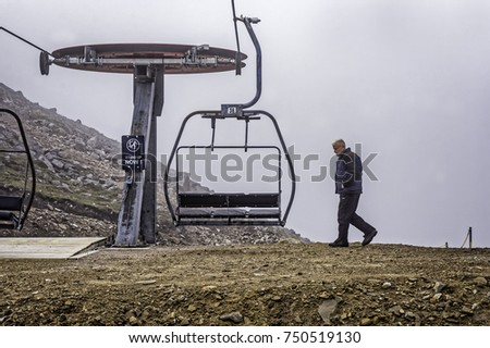 GLENSHEE SKI CENTRE,NORTH SCOTLAND HIGHLANDS - AUGUST 25, 2017: Glenshee Ski Centre and Snowsports School with chairlift