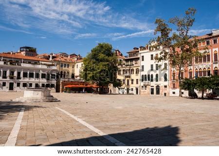 Glimpse Venetian, Venice, Veneto, Italy - stock photo