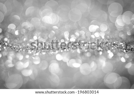 Glitter,Bokeh abstract background wallpaper silver diamond for design - stock photo