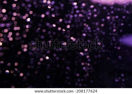 Glitter festive christmas lights background. light violet and gold de focused texture - stock photo
