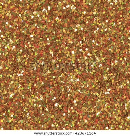 Glitter makeup powder texture. Low contrast photo. Seamless square texture. Tile ready. - stock photo