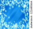 glitter on a soft blue background - stock vector