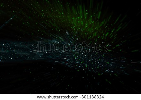 glitter vintage lights background. dark green, blue and black. defocused