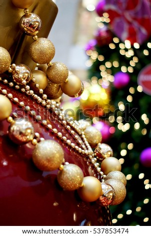 Glittering Christmas ornaments