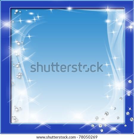 Glittering Frame Background - stock photo