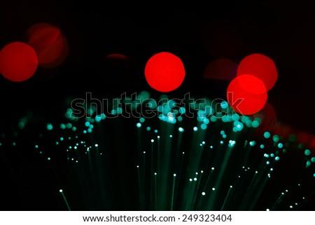 glittering stars on bokeh background - stock photo