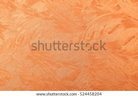Glittery and textured copper metallic paper background