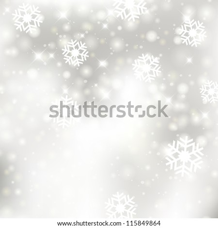 Glittery silver Christmas background. For vector version, see my portfolio. - stock photo