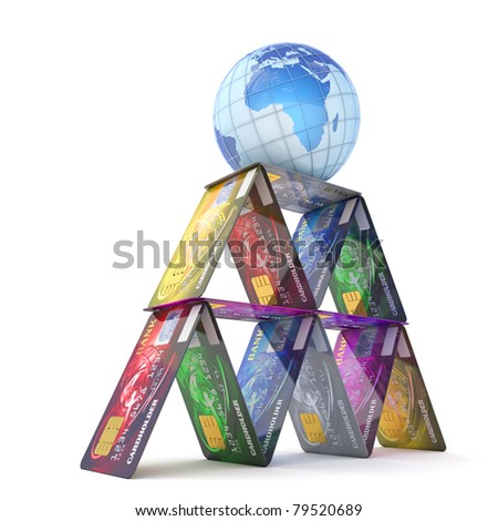 Global banking system - stock photo