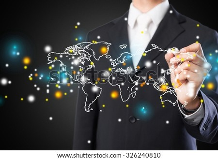 Global business. - stock photo