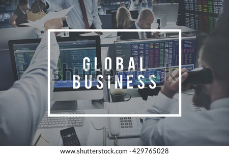 Global Business Accounting Banking Money Concept - stock photo