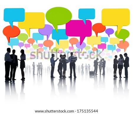 Global Business Communications - stock photo