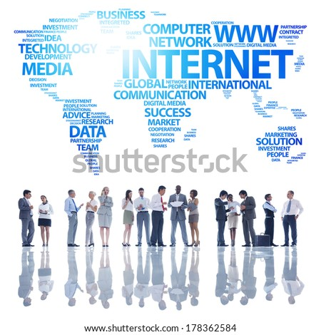 Global Business Communications and Internet - stock photo