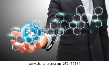Global business concept. - stock photo