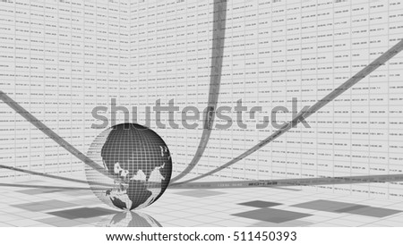 global business concept abstract background