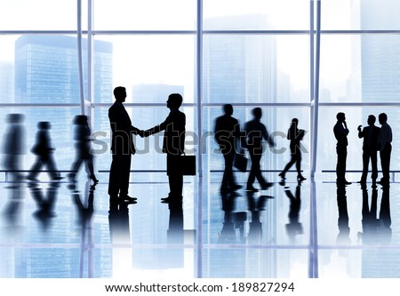 Global Business Greeting - stock photo
