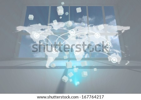 Global business hologram