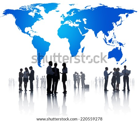Global Business Meeting - stock photo