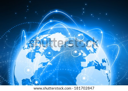 Global business network concept. Globalization concept