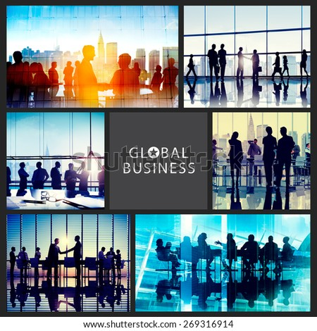 Global Business People Corporate Collection Concept - stock photo