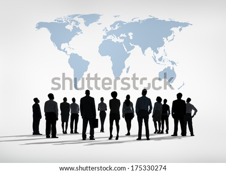 Global Business Silhouettes - stock photo