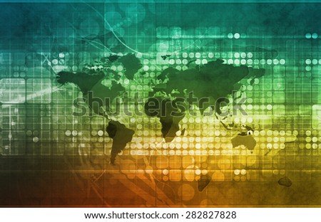 Global Business Strategy and Development as Concept - stock photo