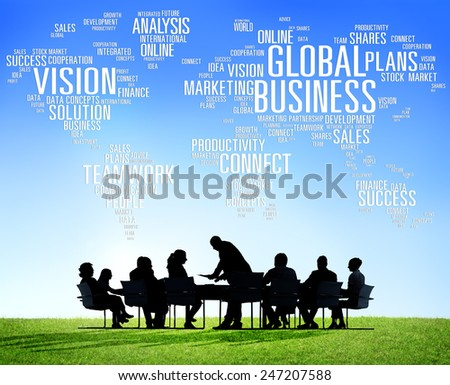 Global Business World Commercial Business People Concept - stock photo