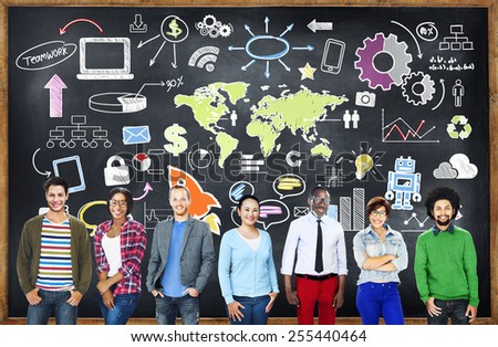Global Business World Organization Market Commercial Concept - stock photo