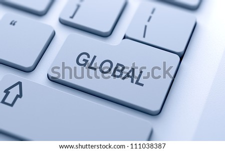 Global button on keyboard with soft focus
