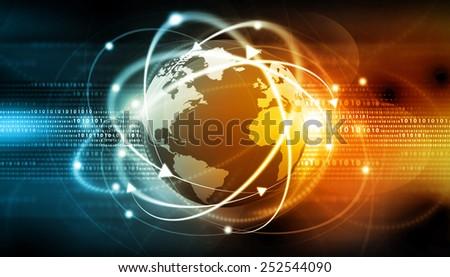 Global communication background  - stock photo