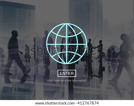 Global Communication World Connection Concept - stock photo