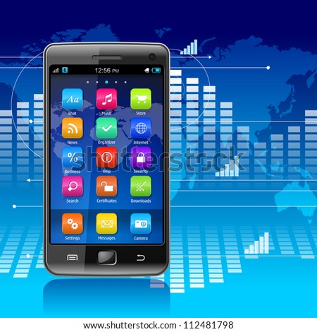 Global communications and mobility concept - stock photo