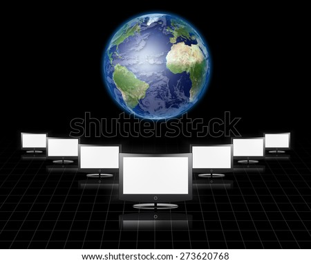 Global Communications Elements of this image furnished by NASA - stock photo