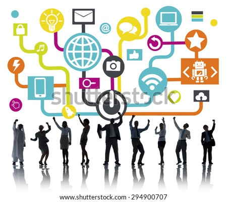 Global Communications Social Networking People Celebration Online Concept