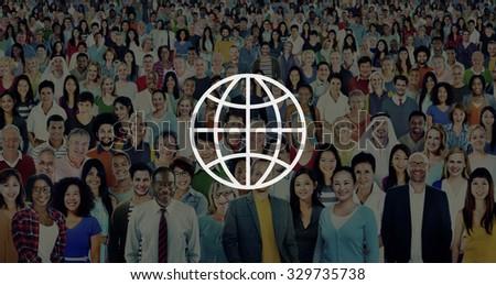 Global Community International Worldwide World Connected - stock photo