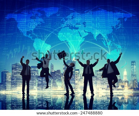 Global Community People Communication City Concept - stock photo